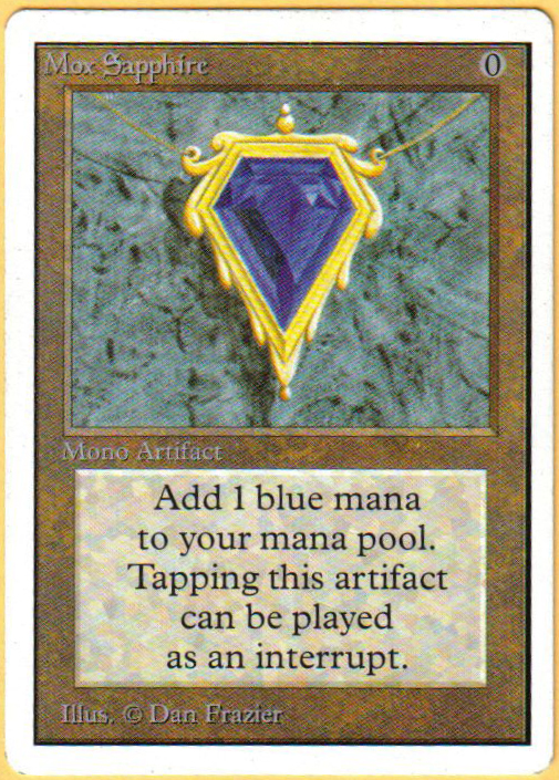 Mox Sapphire (Front)